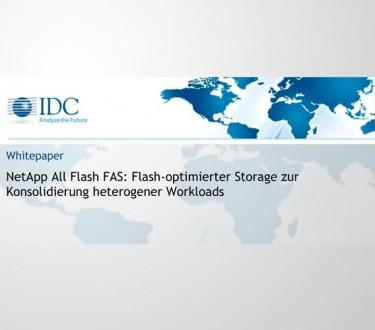 NetApp All Flash FAS: Flash-optimierter Storage zur Konsolidierung heterogener Workloads