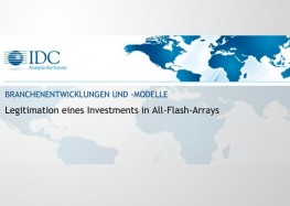 Branchenentwicklung: Legitimation eines Investments in All-Flash-Arrays