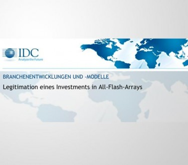 Branchenentwicklung: Legitimation eines Investments in All-Flash-Arrays