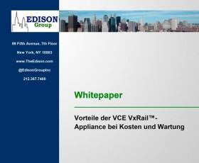Vorteile der VCE VxRail™- Appliance bei Kosten und Wartung