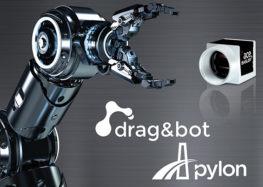 Basler AG und drag and bot GmbH: Gemeinsames Integrationsprojekt erleichtert Programmierung von Robotern