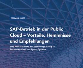Studie: SAP in der Public Cloud gewinnt an Bedeutung