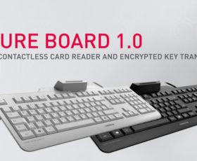 Security-Tastatur zur Verschlüsselung der Tasteneingabe mit integriertem Smartcard- und RF/NFC-Leser
